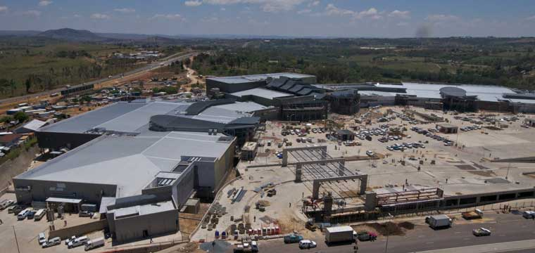 The soon to be opened Cradlestone Mall in Johannesburg's West Rand