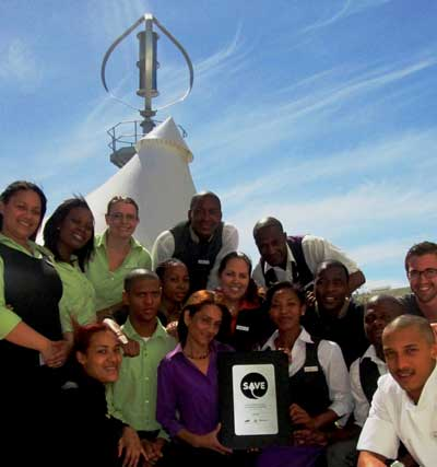 The Hotel Verde Team, from left: Gretchen, Nolufefe, Surina, Onke, Antonio, Muneebah, Lucian, Babalwa, Miriam, Mumtaaz, Danielle, Anele, Knowledge, Kyle and Simon