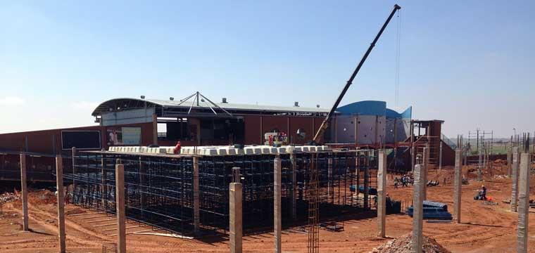 Construction progress of Eyethu Orange Farm Mall