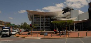 View of the Sandton Gautrain Station.