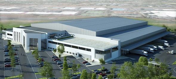 MB Tech - Tarsus warehouse & distribution centre (aerial perspective)