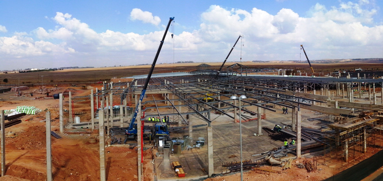 Construction underway on Mpumalanga's Middelburg Mall, which is undergoing a R200 million expansion to increase retail space at the mall by more than 12000sqm. Phase two will open to the public in October.