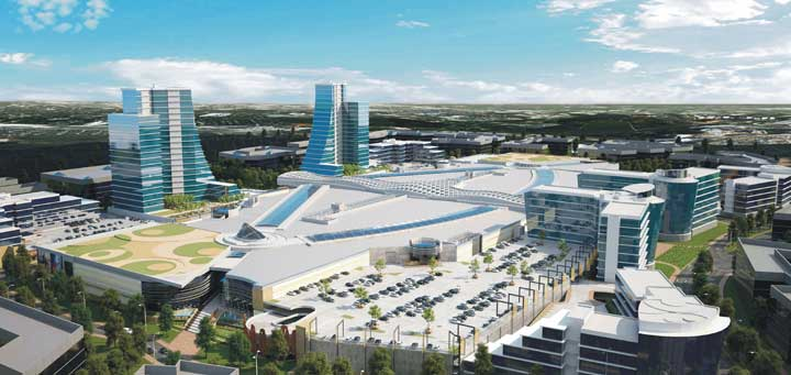 External artist's impressions of Mall of Africa