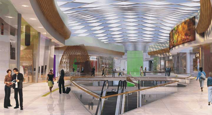 Internal artist's impression of Mall of Africa