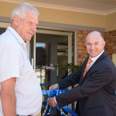 Official opening of the Genesis Youth Centre by Growthpoint Properties, Executive Director, Estienne de Klerk, and Chairman of the Genesis Trust, Trevor Skorpen.