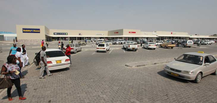 View of Oshakati Shopping Centre, showing the new addition.
