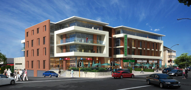 Artist's impression of Pam Golding on Main in Kenilworth, Cape Town