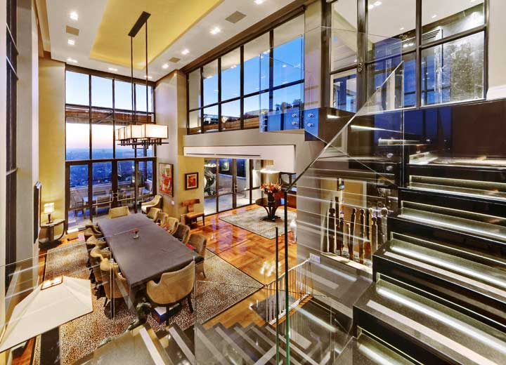 This Morningside penthouse is on the market for R60 million through Pam Golding Properties.
