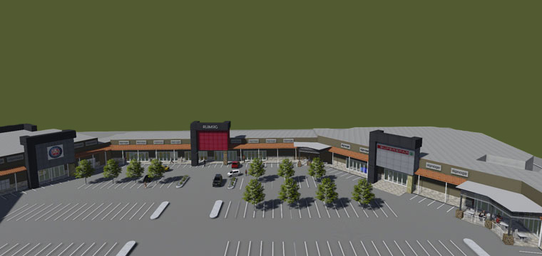 Artist rendering of the Ruimsig Shopping Centre upgrade.
