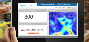 Syenap Property's heat map in conjunction with its stock operational tool indicates where customer activity is taking place, and alerts management when stock levels are low