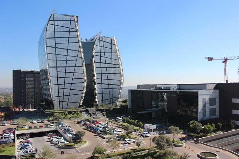 The Towers and 12 & 15 Alice Lane, offices in Sandton, part of the Tiber property portfolio that Growthpoint Properties will acquire
