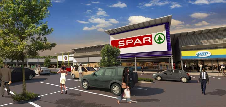 An artist's impression of the new Vosloorus Plaza shopping centre.