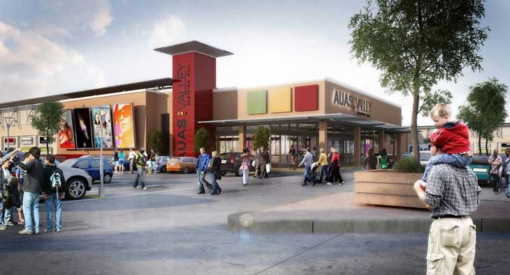Artist rendering of Namibia's Auas Valley Shopping Centre upgrade