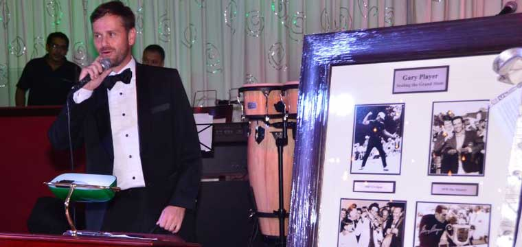 ClareMart Auction Group Director, MC Du Toit, in action at the Consular Corps Ball on Saturday, October 19.