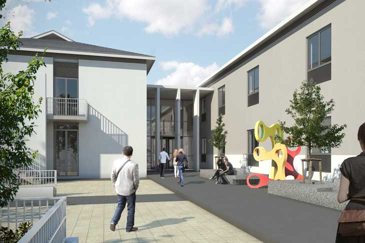 Artist impression of the new centre