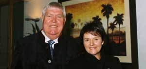 Herr Heinz Sieg and Tanya Jovanovski, co-franchisee of Rawson Auctions Western Cape.