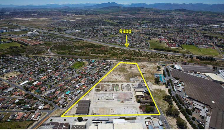 Industrial development site in Bellville, Western Cape