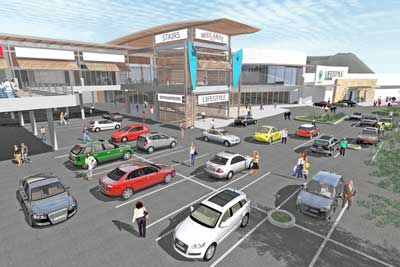 Lifestyle centre which will include retail and office components, adjacent to the existing Liberty Midlands Mall