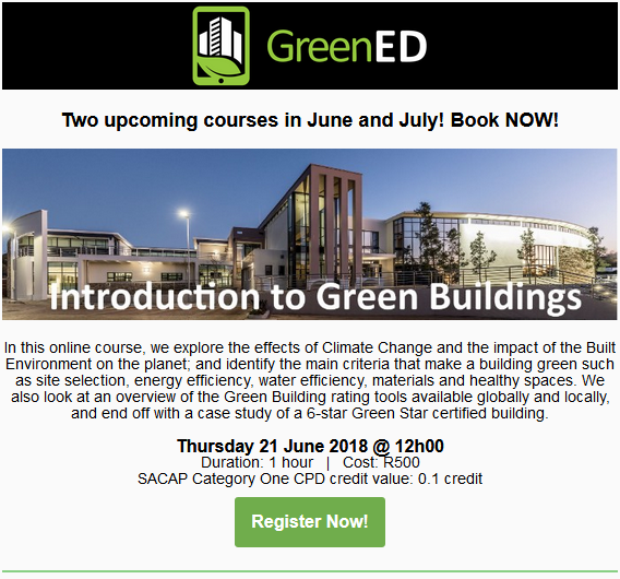 GreenED: Introduction to Green Building